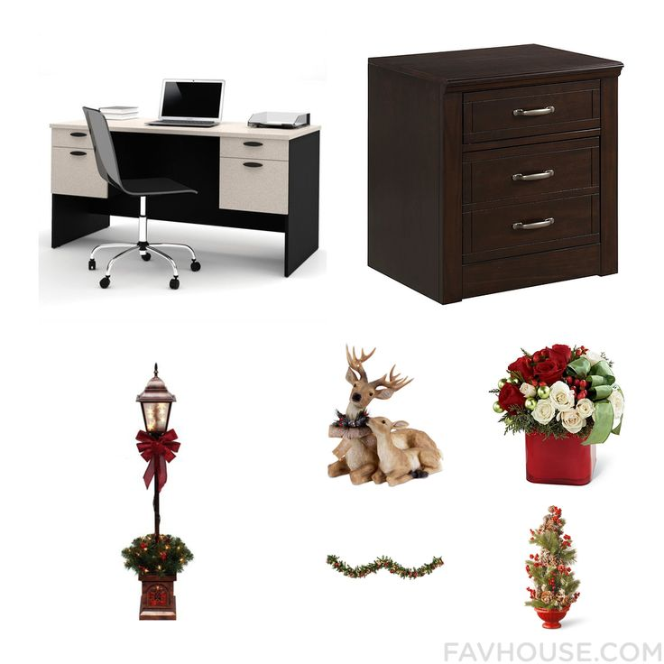 House Update Including Bestar Desk 3 Drawer File Cabinet Outdoor Lighting And Christmas Home Decor From December 2016 #home #decor