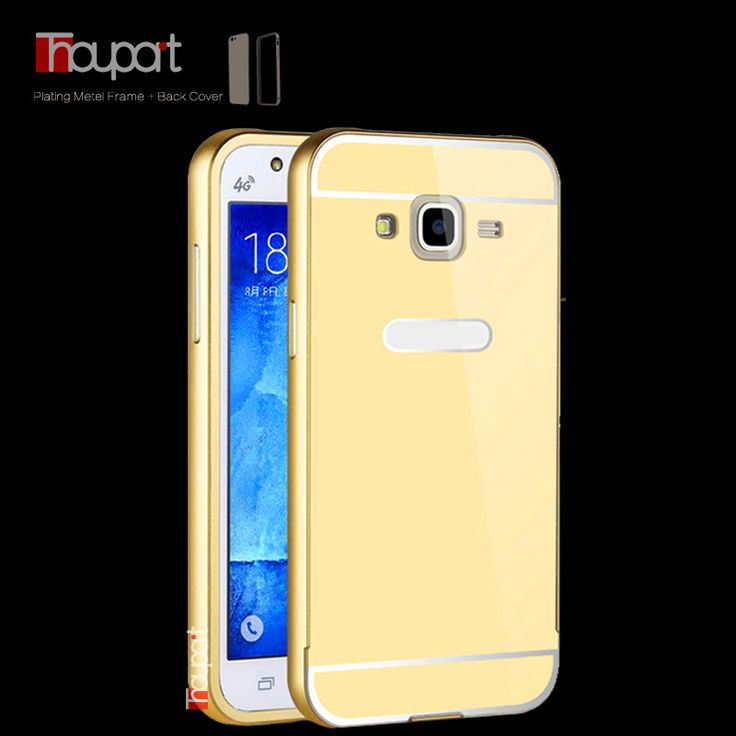 For Samsung J7 J700 J700F Galaxy Luxury Gold Plating Armor Aluminum Metal Frame + Mirror Acrylic Case Back Cover For Samsung J7