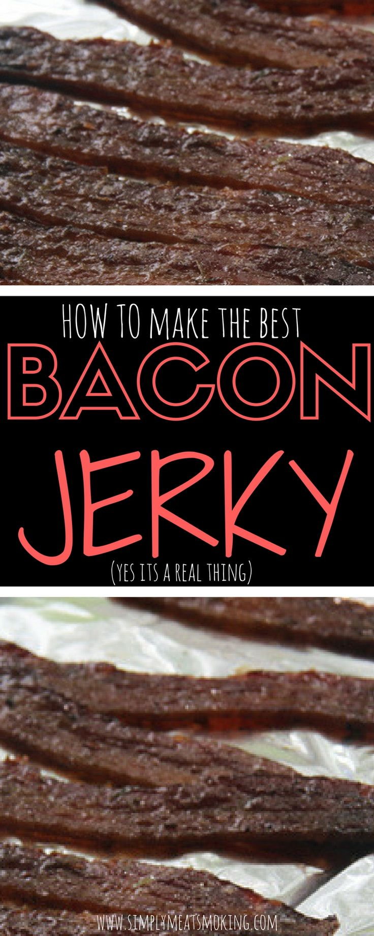 Bacon jerky is your next best friend. Its super easy and delicious!   BBQ Recipes   Barbecue Recipes   Smoker Recipes   Grill Recipes   Best Grill Recipes   Best Smoker Recipes   Best BBQ Recipes   Best Barbecue Recipes   Best BBQ Food   BBQ Inspiration