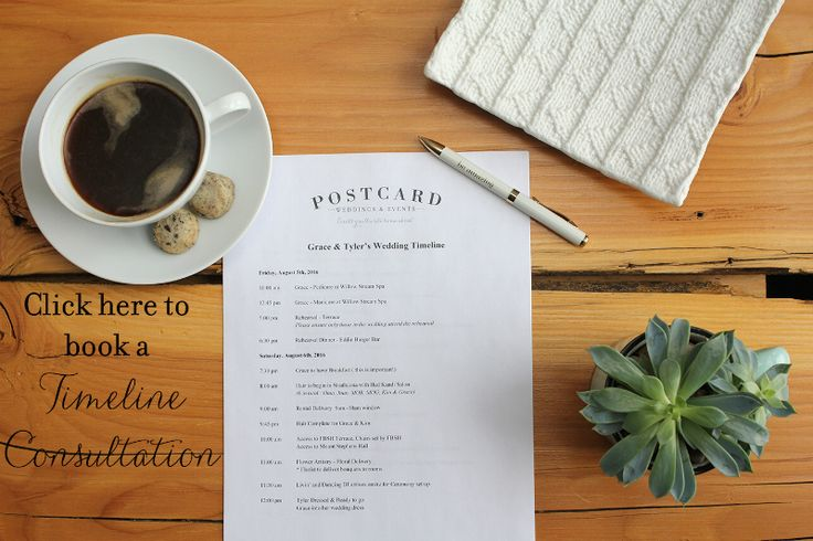 How to Plan a Wedding Timeline in 1 Step! Seriously!! Talk to postcardweddings.com.