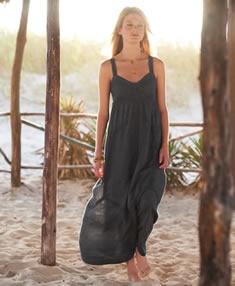 Lace panelled maxi dress Wrap London