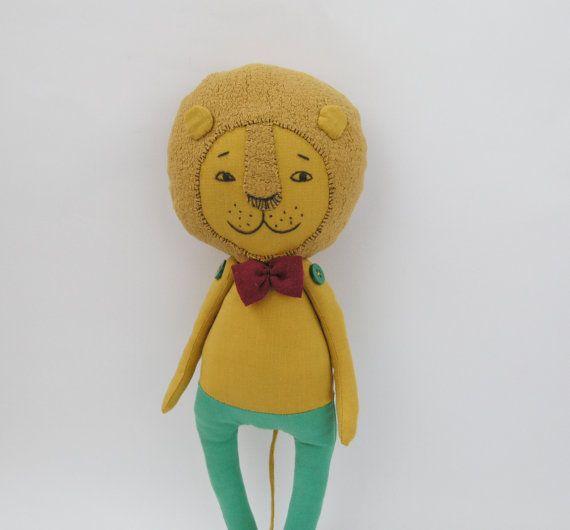 Jouet OOAK Lion / peluche Lion / Lion OOAK / enfants chambre décor Lion