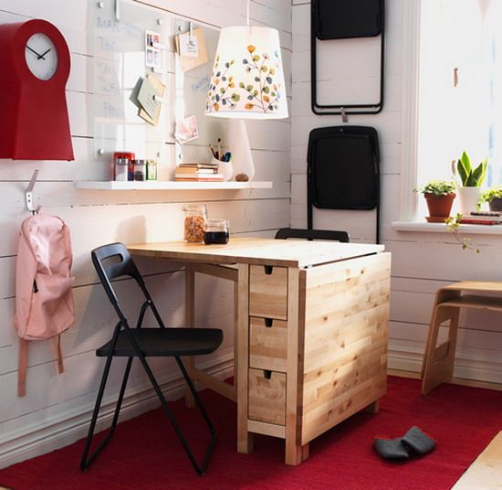 small kitchen/dining room ideas apartment- I have always loved this ikea table.