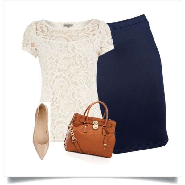 Navy pencil skirt...still looking for one of these!