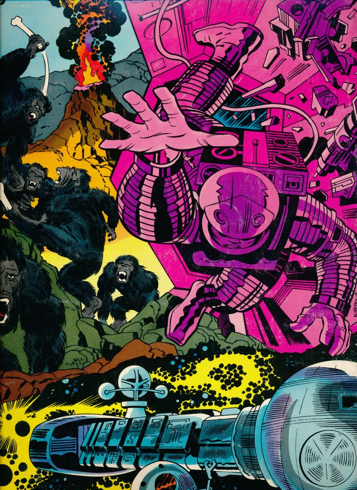 Jack Kirby art on the back cover of the 2001A Space Odyssey Marvel Treasury Special 1976