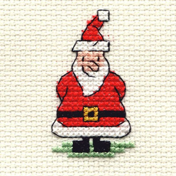 Mini Cross Stitch Christmas (The expression on his face is just wonderful. I really like this one.) cj