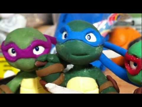 How To Make Fondant Ninja Turtles - YouTube