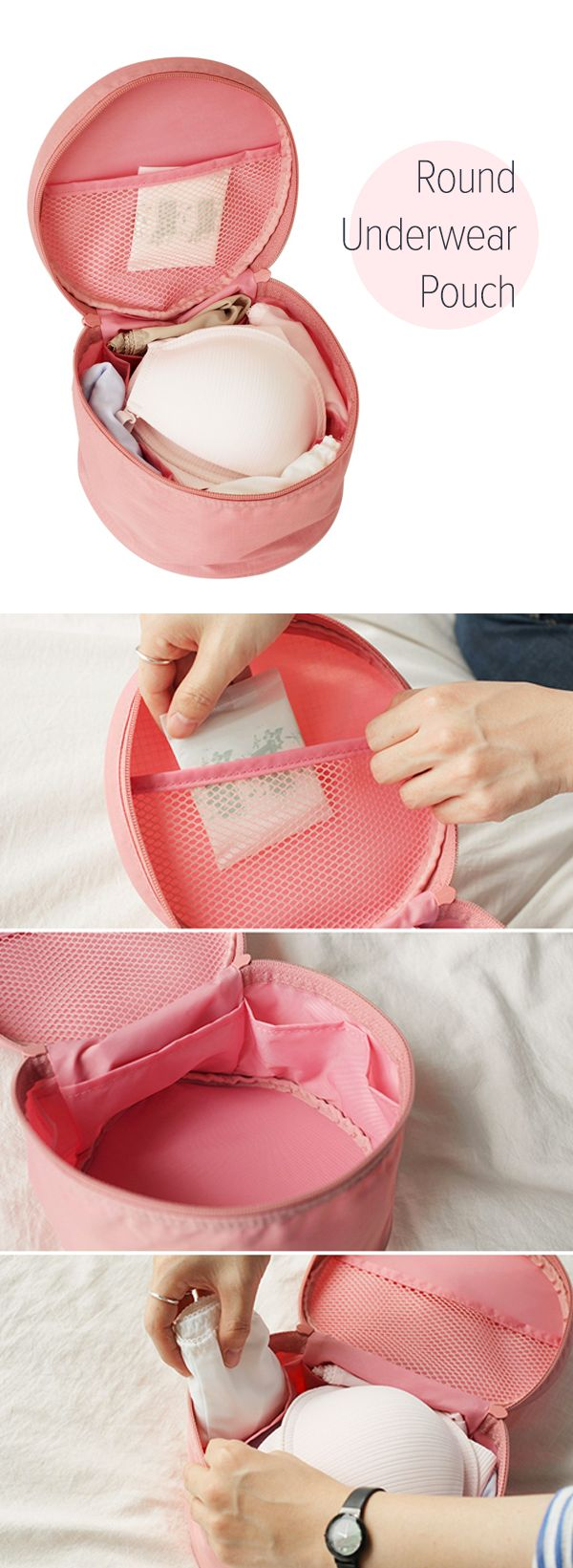 Neat! A travel pouch made just for underwear! I love it! The pockets and main compartment are more than enough to store all the bras, undies, and feminine hygiene products I'll need for my travels. This will make packing so much easier and help keep my suitcase organized too! The round shape and clean design are cute and to top it off, it's made of a water resistant material. I never knew I needed this, but now I don't know what I'd do without it! I am definitely getting one! You should…