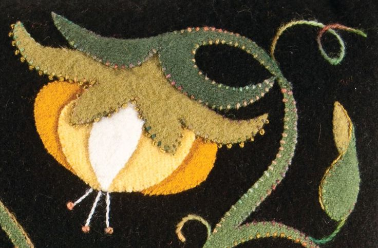 Jacobean Dimensions, felted wool dimensional design