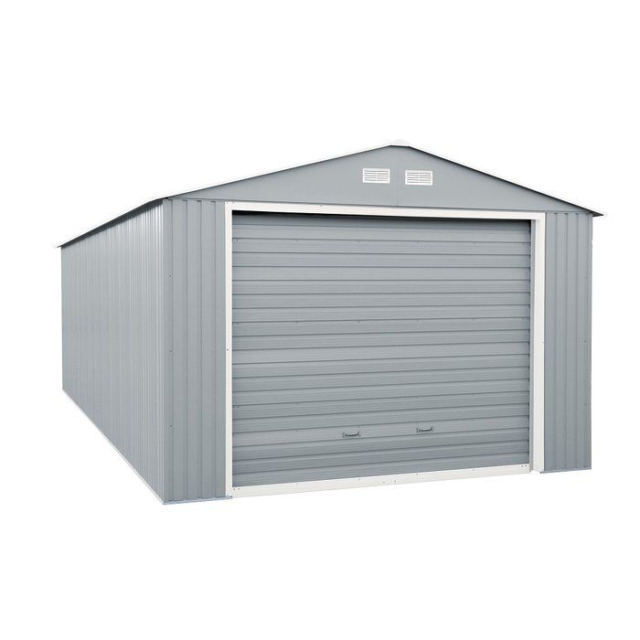 Imperial 12 Ft W X 20 Ft D Metal Garage Shed Steel Storage Sheds Storage Shed Pallet Shed Plans