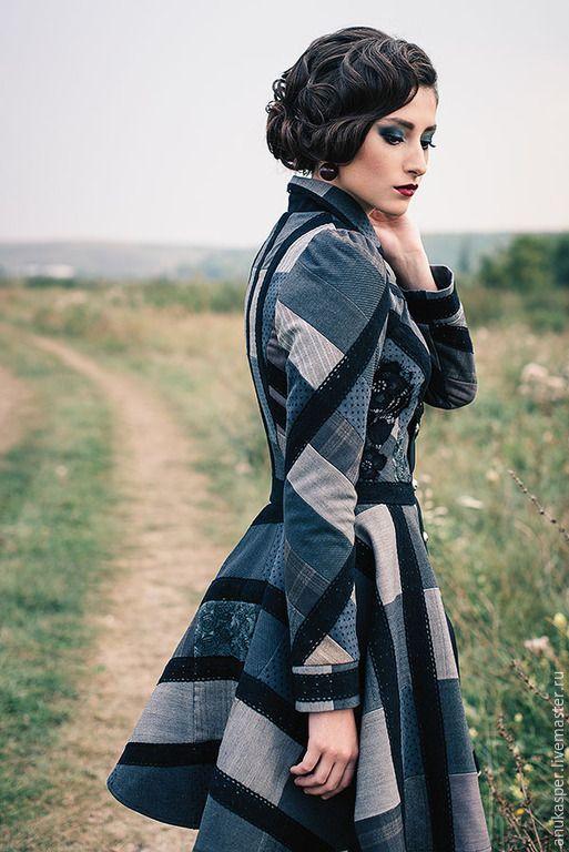 """Купить Пальто """"Оттенки"""" - пальто, пальто женское, пальто демисезонное, Пальто ручной работы"""