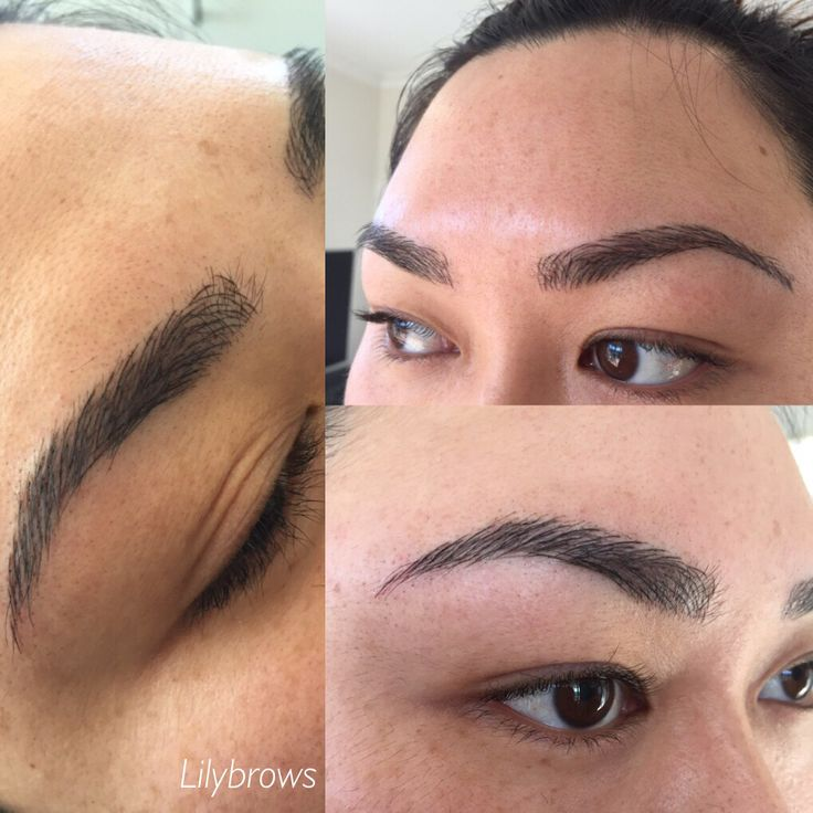 Feathered eyebrows