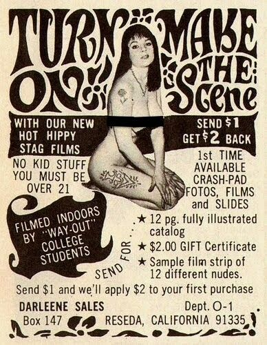 Stag film ad (late 1960s)