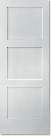 Shaker 3-Panel Equal Trimlite™ Doors Profile
