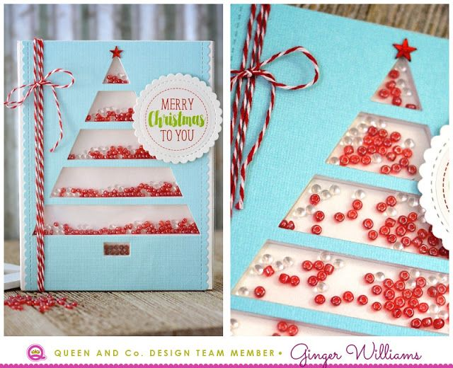 Ginger Williams: Queen and Company Holiday Tree Shaker Card Kit