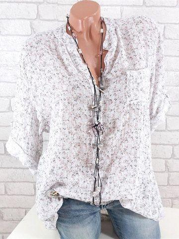 dac77a352d5 Floral Loose Long Sleeve Button Shirt