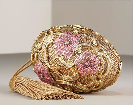 Floral Egg by Judith Leiber: Perfect clutch for a formal evening  Fab~ reminds me of a Faberge egg!