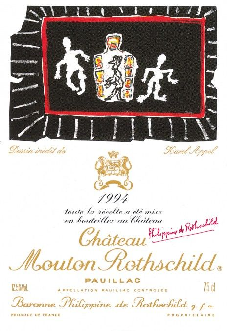 Etiquette Mouton Rothschild 1994 KAREL APPEL