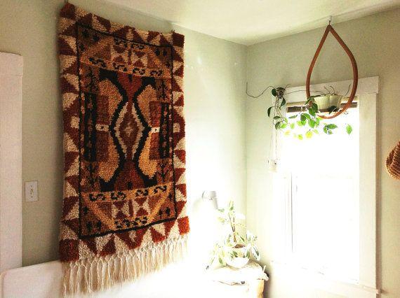 Vintage 1970s Handwoven Wool Textile. by SouvenirSouvenir on Etsy, $600.00