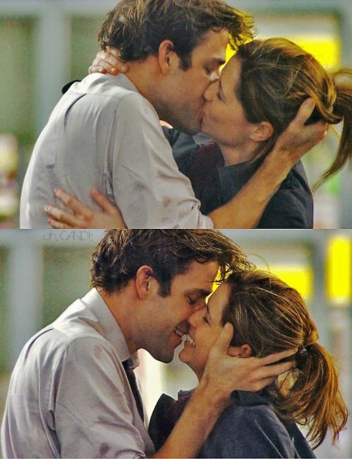 The Office - Jim and Pam. They are pretty much one of the cutest tv couples ever! Besides Marshall and Lily! haha