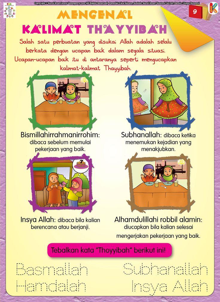 Mengenal Kalimat Thayyibah Buku, Anak, Pendidikan