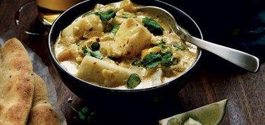 Fiskgryta med curry, mango och kokosmjölk