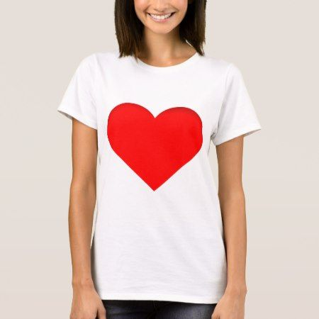 Red Heart Print Design T-Shirt - tap, personalize, buy right now!
