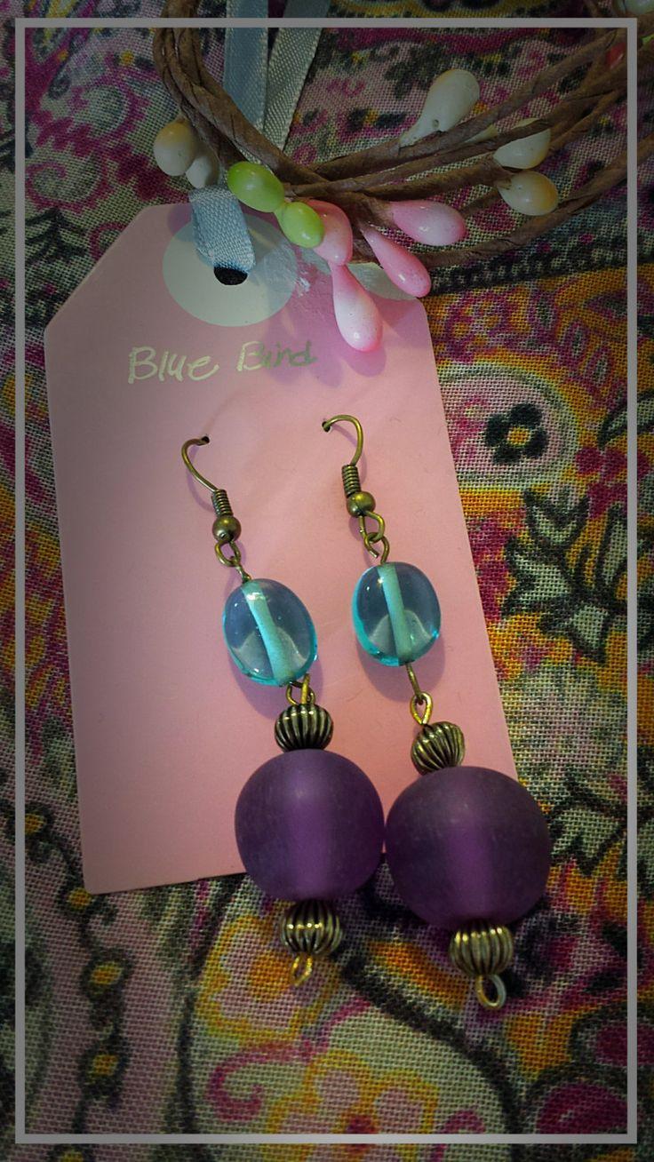 perfect for violet dresses, light stone, elegant earrings by BlueBirdjewel on Etsy