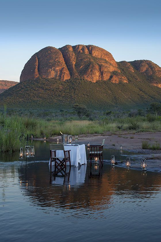 A romantic evening for two at Marataba Lodge,  Book with us on: www.mtbeds.co.za