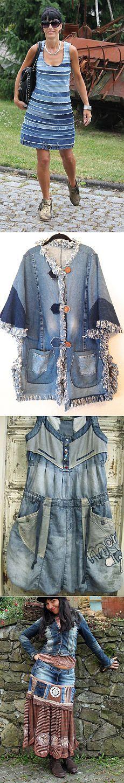Robe avec des jeans recycler