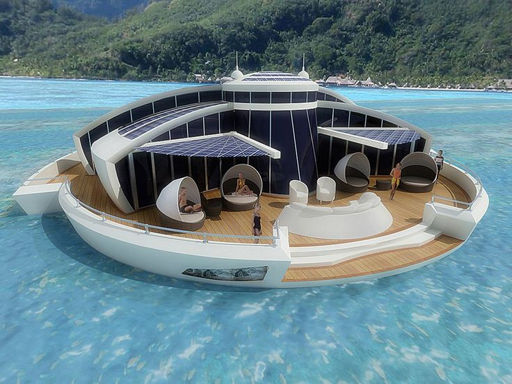 A waterfront home with the perks of a boat. Would you move in?