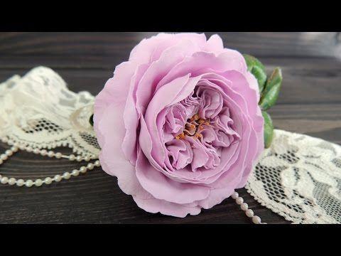 Пионовидная роза из фоамирана | Tavifa - YouTube