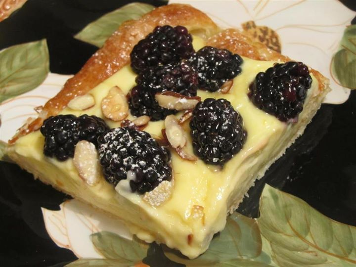 Lemon Berry Pastry ~ puff pastry filled with a lemon curd and sour ...