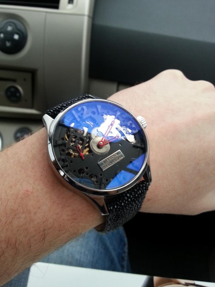Carbon8 Open Engine on the wrist