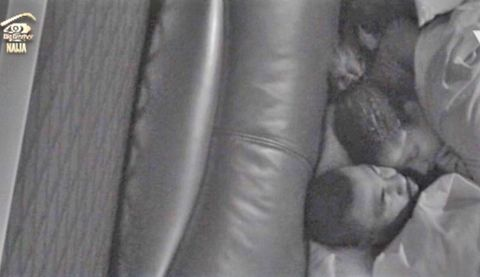 Big Brother Housemates, Bally & Gifty get cozy while sharing the same bed last night – See photos #BBNaija