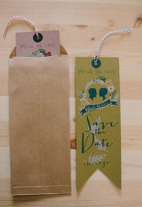 DIY printable Bookmark save the date Library book by yesdearstudio