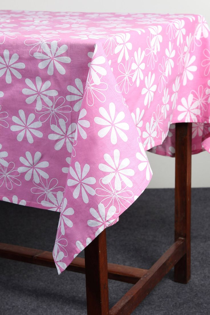 Bold Floral tablecloth by Suraaj Linens