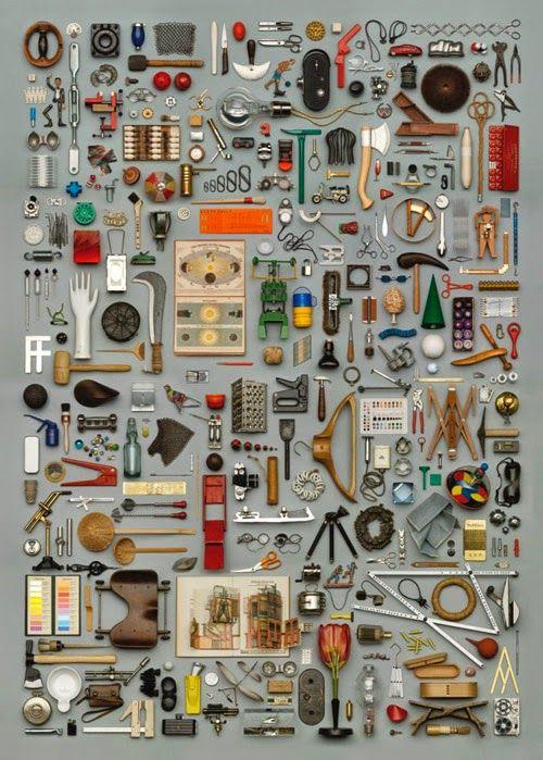 """坂井直樹の""""デザインの深読み"""": 美しく並べる。あるいは何でもばらして並べて整理する等々。「整理するデザイン」"""