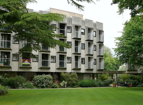 St. Anne's College, Wolfson & Rayne Buildings, Oxford - Architects: Howell Killick Partridge & Amis, 1964.