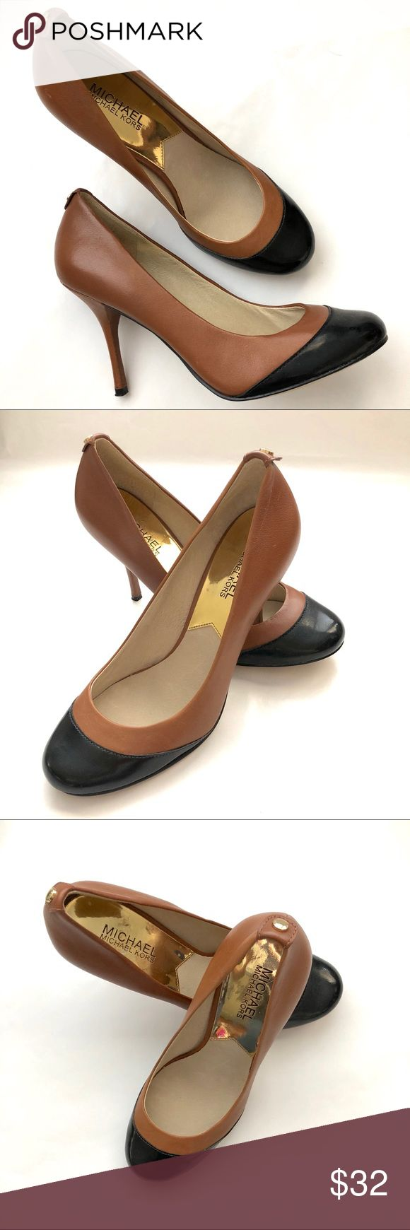 """Michael Kors Two Tone Heels SZ 7 Lovely two tone heels, small scuffs on the left shoe not hardly noticeable, great condition! Like new! Heel height is 3.5"""". MICHAEL Michael Kors Shoes Heels"""