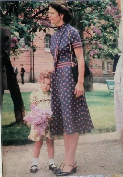"""theduchessofvastergotland: """"Queen Silvia with her daughter Princess Victoria"""""""