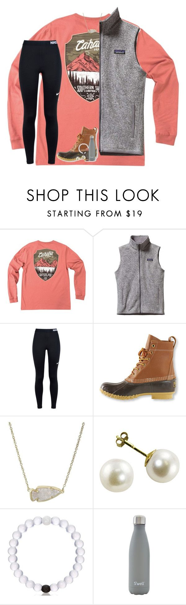 """about me tag! rtd!"" by lindsaygreys ❤ liked on Polyvore featuring Patagonia, NIKE, L.L.Bean, Kendra Scott, S'well and Burt's Bees"
