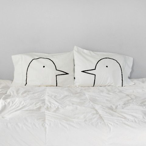 "The Love Bird Pillowcases make a unique 2nd anniversary, engagement or wedding gift! Out of all the couples gifts in the world, these are truly a stand-out! Here's a recent review: ""My wife thought th"