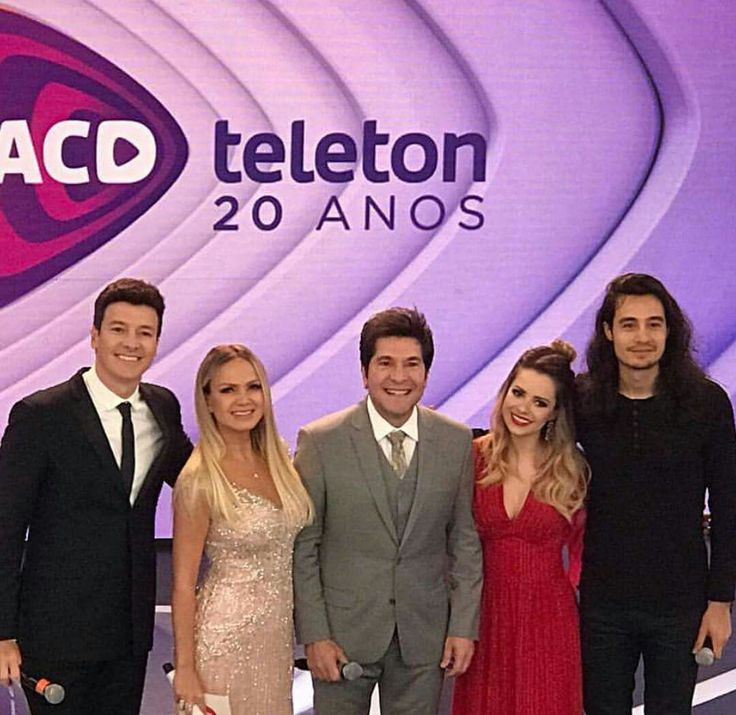Sandy , Rodrigo Faro, Eliana, Daniel e Tiago Iorque no Teleton 2017