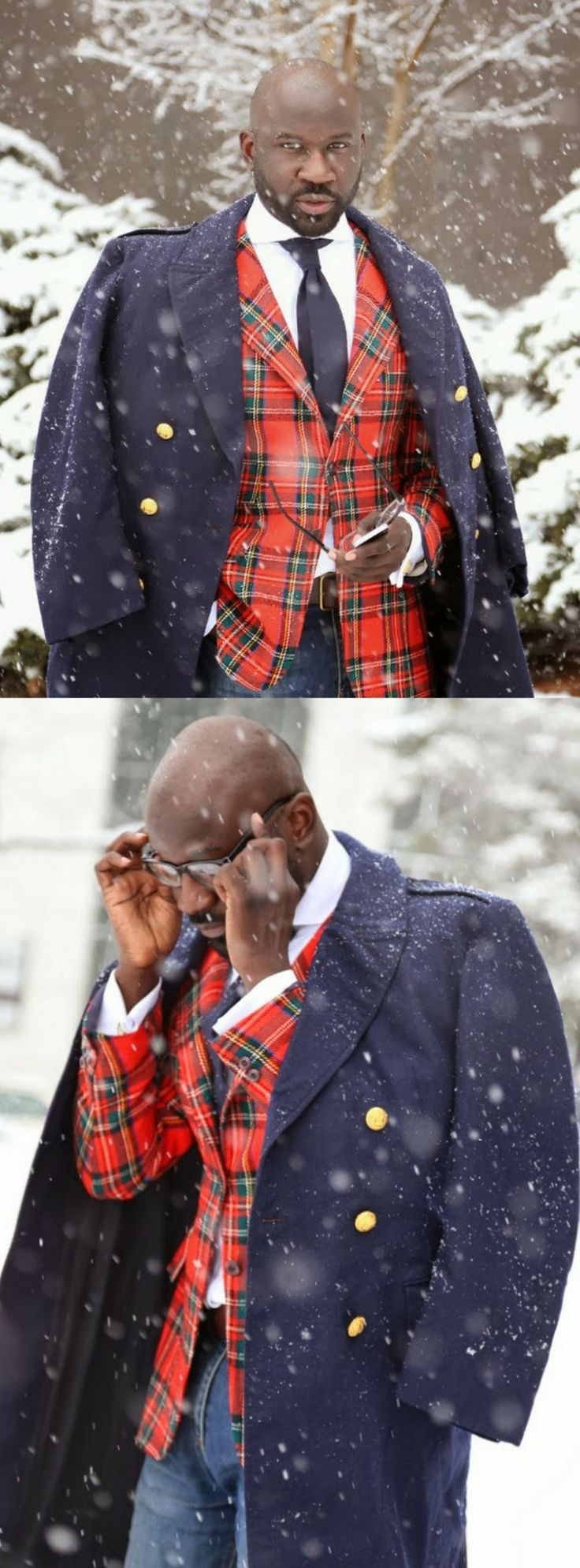 plaid snow day | #RashonCarraway