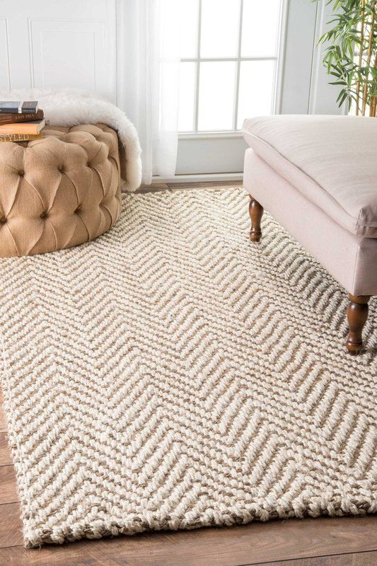 Norcross Chevron Jute Ivory Area Rug Rugs In Living Room Cheap
