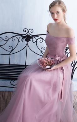 Nice Long Pink Tailor Made Evening Prom Dress (LFNCE0063) http://www.marieprom.co.uk/prom-dresses-uk