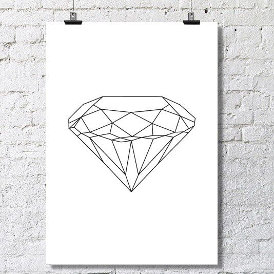 A diamond poster. Instant download. Available in different sizes (A2, A3 and A4).