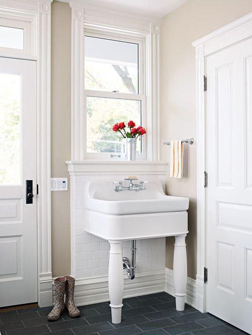 mini mudroom sink included... By back door
