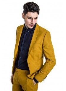 Ellroy Skinny Stretch Jacket Mustard